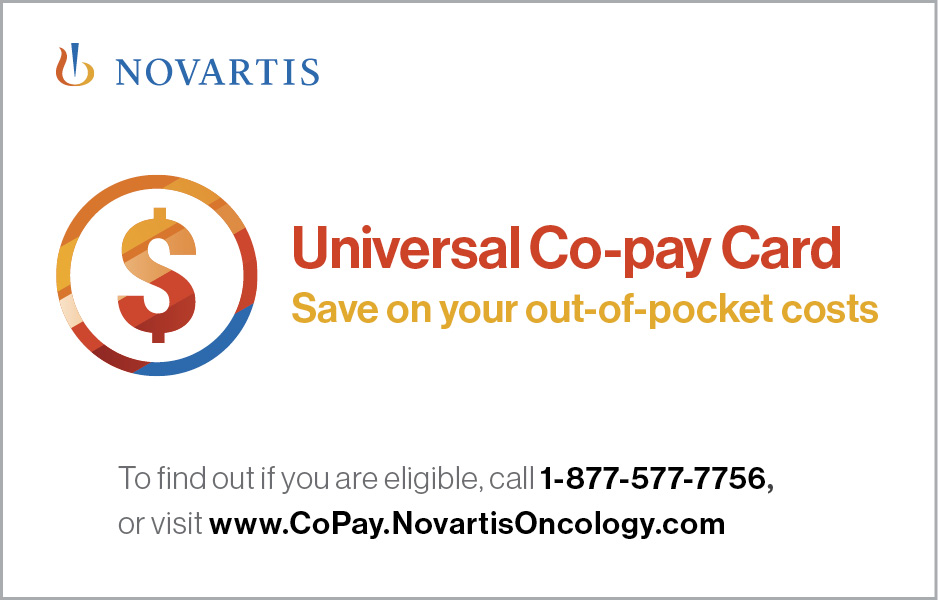 Novartis Universal Co-pay Card for RYDAPT